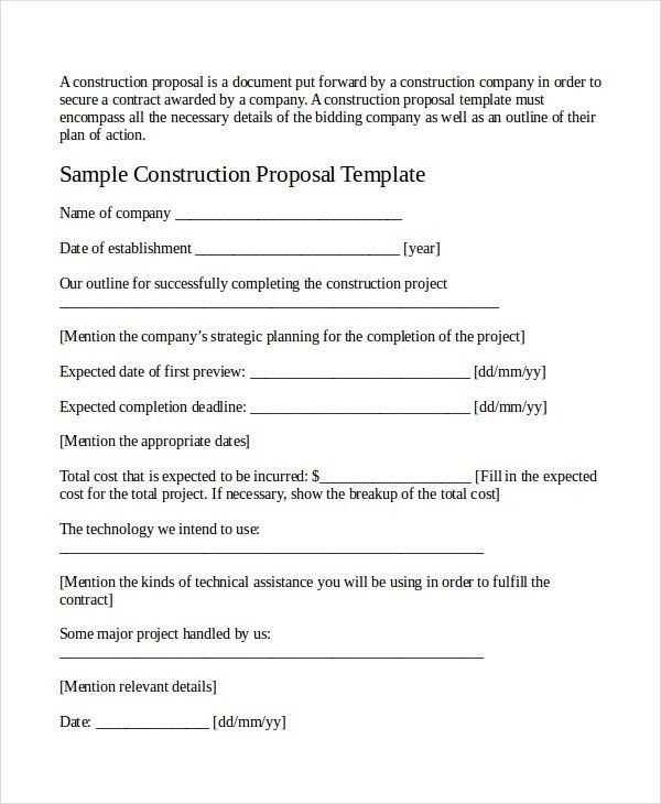 Job Proposal Template - 18+ Free Word, PDF Document Downloads ...