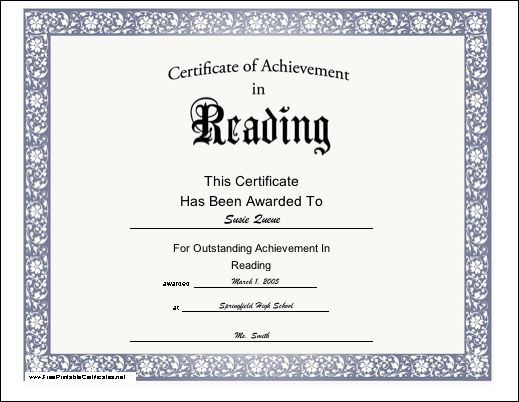 A printable certificate of achievement with blue paw prints. Free ...