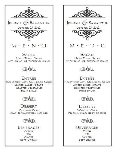 Wedding Menu Template - Wedding Menu Template 6