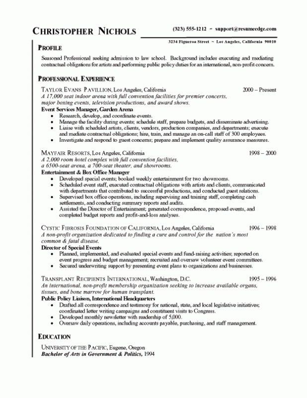 law school application resume resume examples - Graduate School Application Resume Template