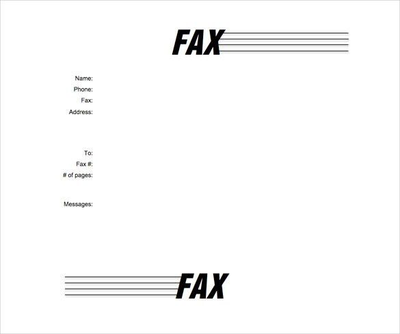 Fax Cover Page Template. Sample Cover Letter Fax Fax Cover Letter ...