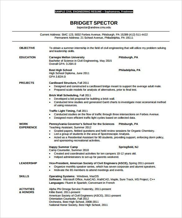 Engineering Resume Template | haadyaooverbayresort.com
