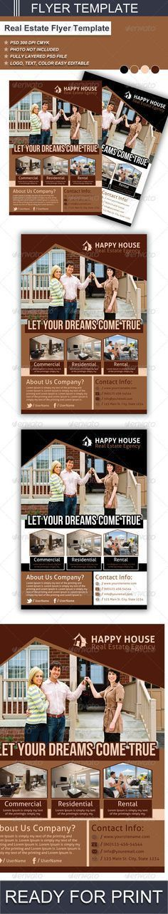 Real Estate Flyer Templates: Edit and Print! | Flyer Templates ...