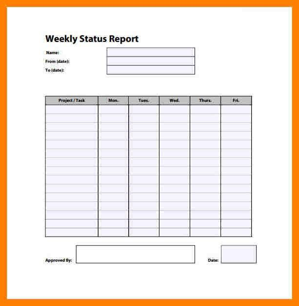 7+ weekly progress report format | packaging clerks