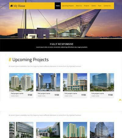 Free Bootstrap Template Real Estate My Home