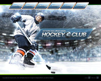 Hockey club flash website template | Best Website Templates