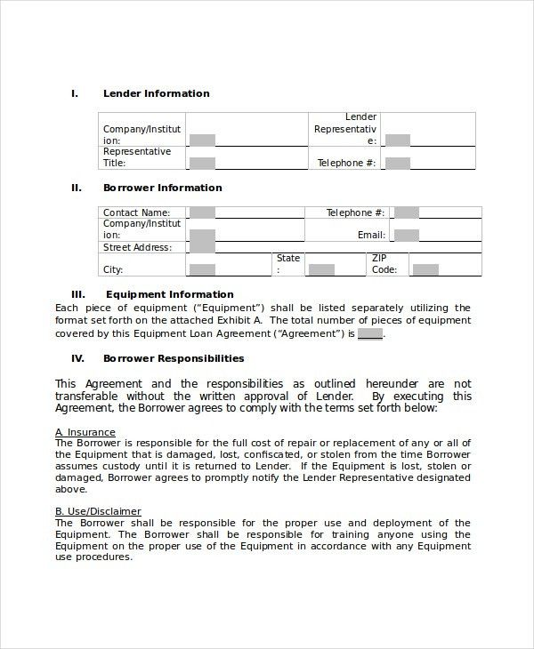 Sample Subordination Agreement Template. Perpetual Loan ...