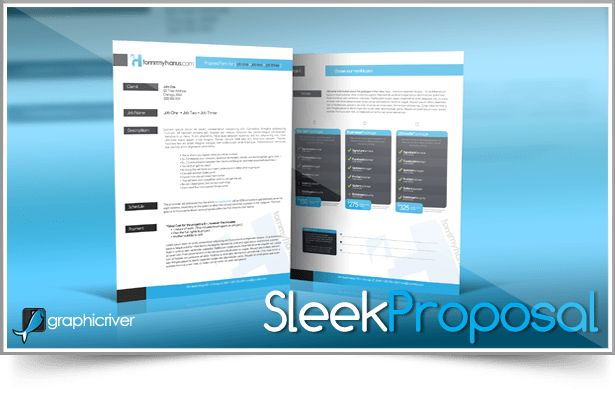 Sleek Proposal Template by tommyhanus on DeviantArt