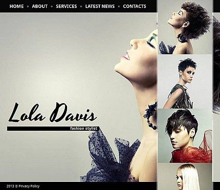 Website Template #43536 Fashion Stylist Top Custom Website ...