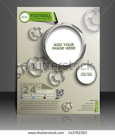 Vector Football Competition Brochure Flyer Magazine Stock Vector ...