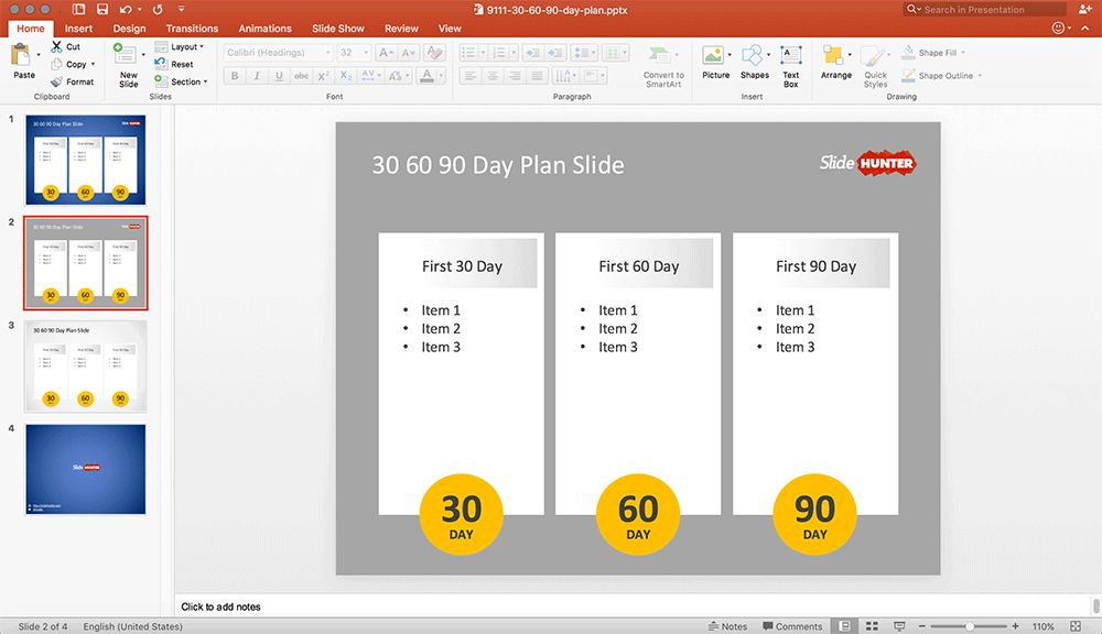 Free 30 60 90 Day Plan PowerPoint Template - Free PowerPoint ...