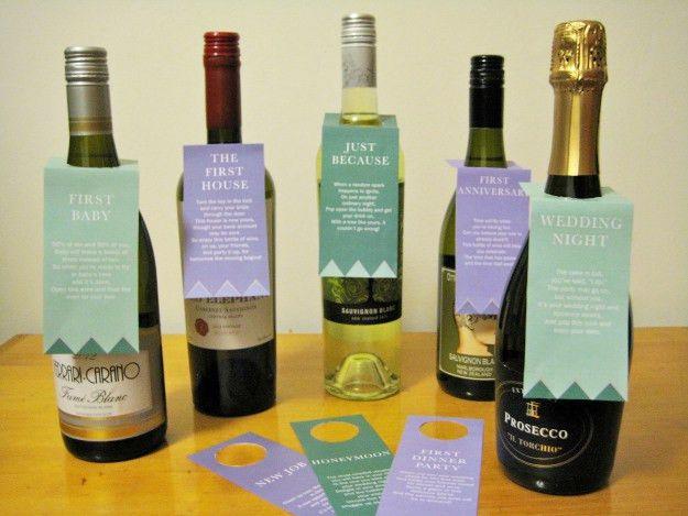 Wine Basket Bridal Shower Gift + Printable Poem Gift Tags ...