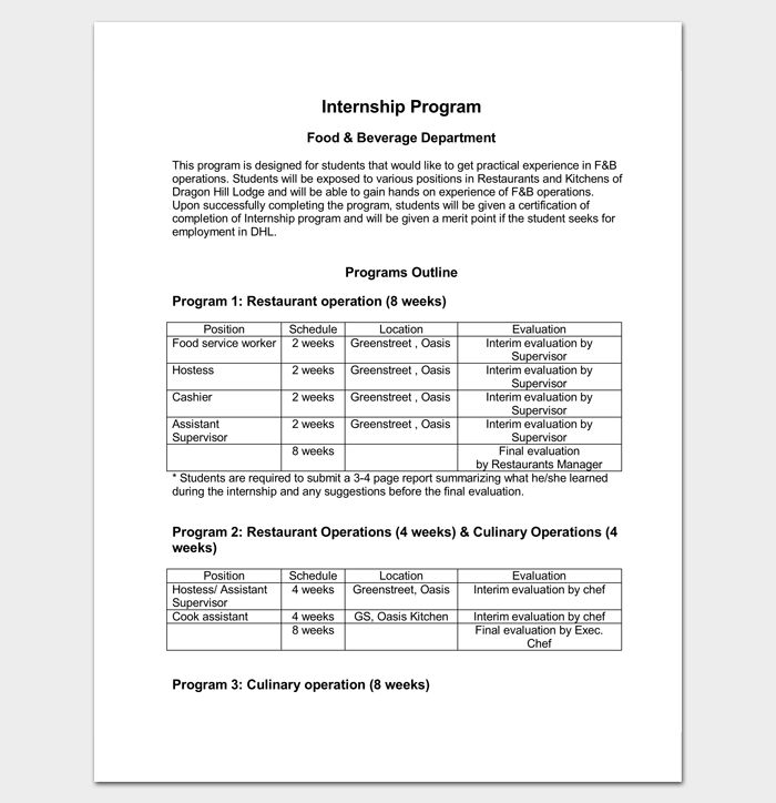Program Outline Template - 18+ For Word & PDF Format