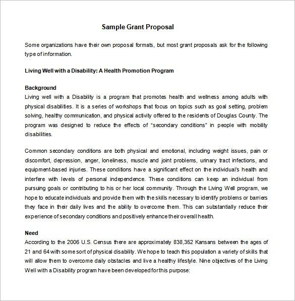 Proposal Template U2013 140+ Free Word, PDF, Format Download! | Free .