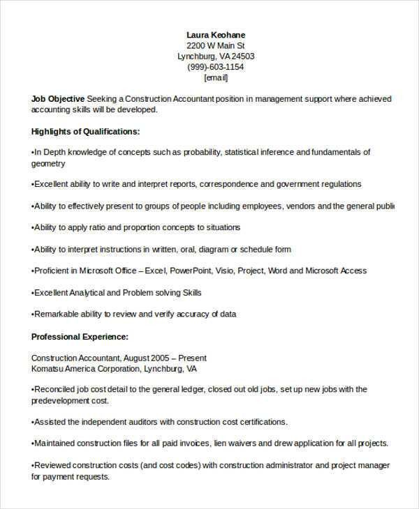 24+ Accountant Resume Templates in PDF | Free & Premium Templates