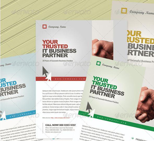 Flat Design Corporate Flyer Bundle by Creativenauts on Creative ...