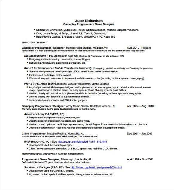 Sample Designer Resume Template - 16+ Documents in PDF, PSD