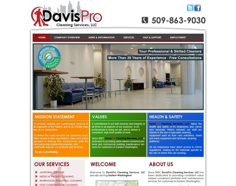 Website Designing-Cleaning Company Website Designers- Expert Designing