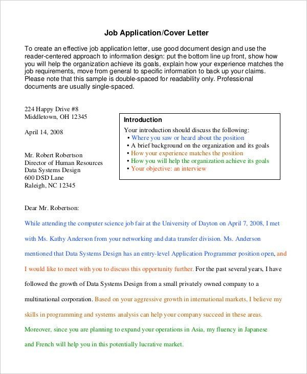 Employment Cover Letter. Professional Cover Letter Template - All ...