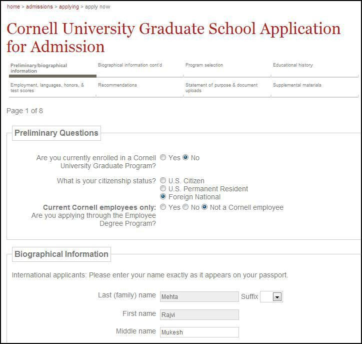 example application form