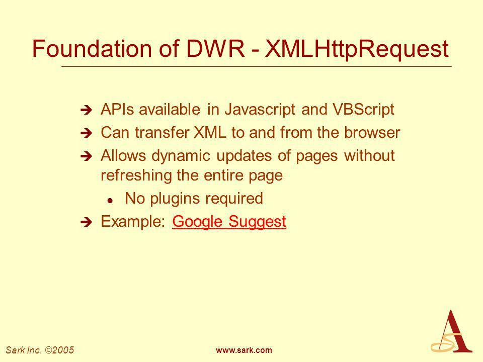 Ajax, GreaseMonkey, and DWR - ppt download