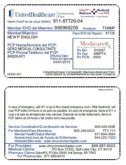 Texas - UnitedHealthcare® Community Plan - Member and Plan Information