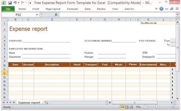 expense account templates