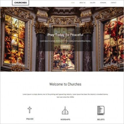 church Free website templates in css, html, js format for free ...