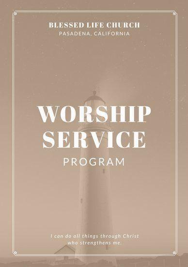 Church Program Templates - Canva