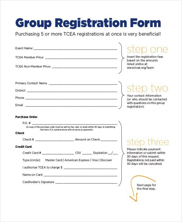 12+ Sample Event Registration Forms | Sample Forms
