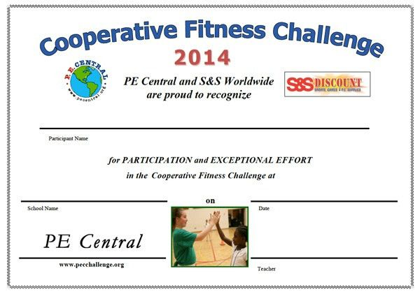 Cooperative Fitness Challenge from PE Central
