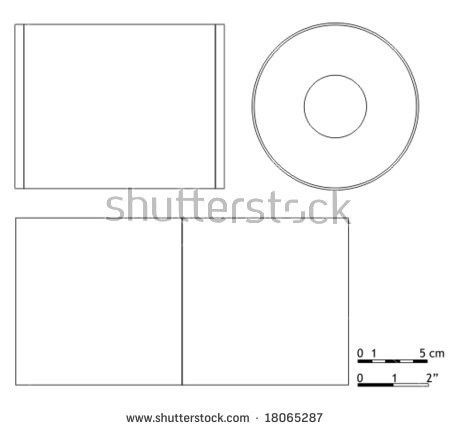 Blank Cd Dvd Cover Template Stock Vector 18065287 - Shutterstock