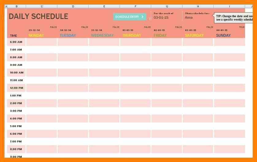 Family Timetable Template Family Schedule Template  Free Word