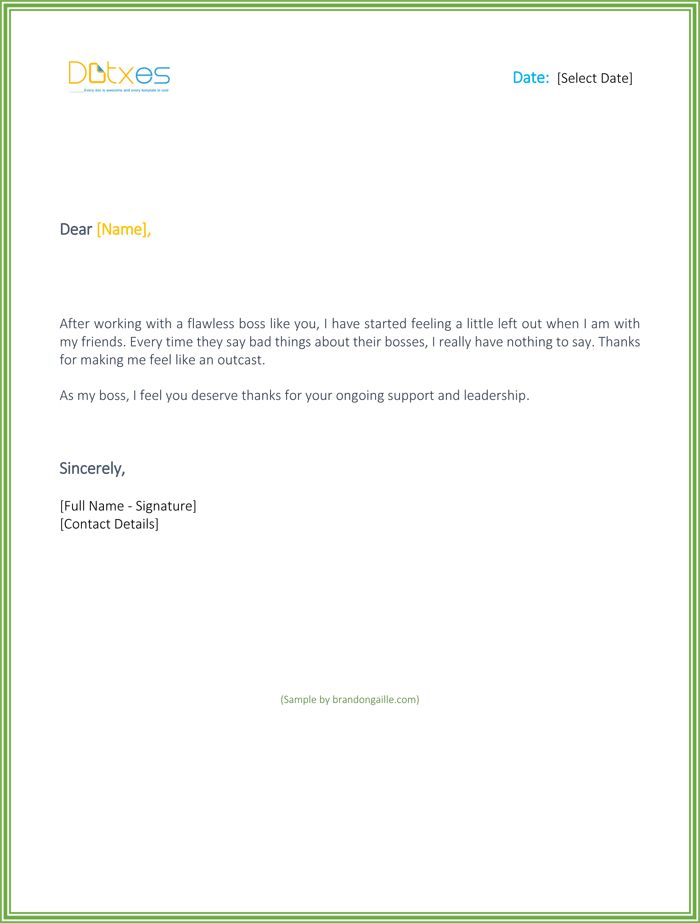Thank You for Your Support Letter - Best Sample Letters You Should ...