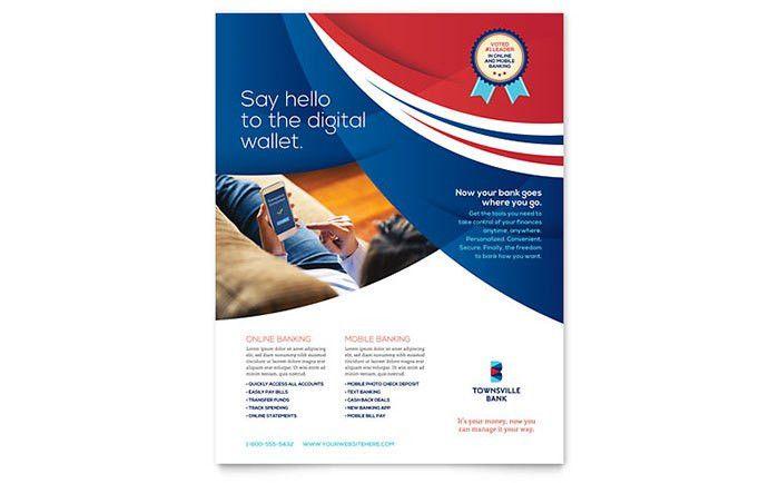 Bank Flyer Template Design