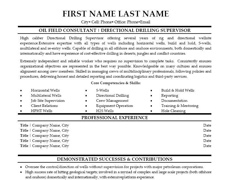 Enchanting Directional Drilling Resume 66 On Sample Of Resume With ...