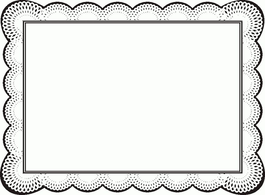 Free Certificate Borders For Word - ClipArt Best | Frames ...