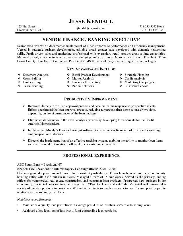 investment banking resume banking personal banker resume with ...