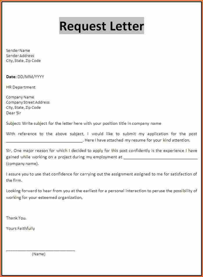 Attractive Structure Of Form Letters   Budget Template Letter