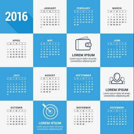 2016 Creative Calendar Design | Calendar Picture Templates