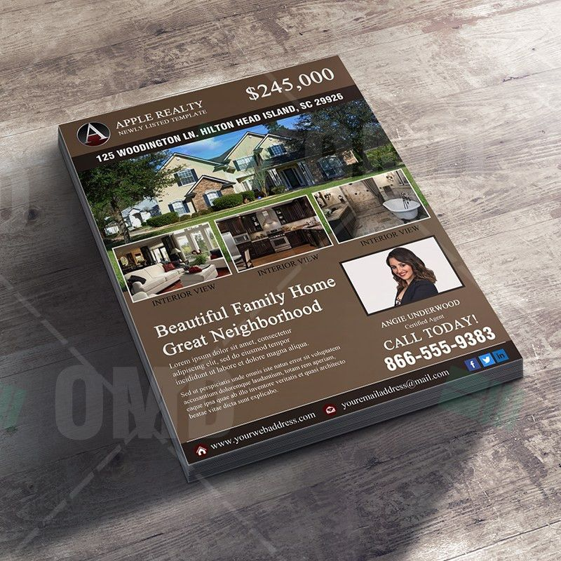 Featured Listing Property Design Template – Real Estate Lead Generator