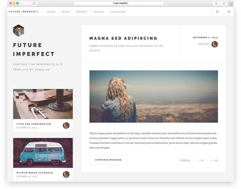 Top 15 Best Free HTML & CSS3 Bootstrap Blog Templates 2016 - Libthemes