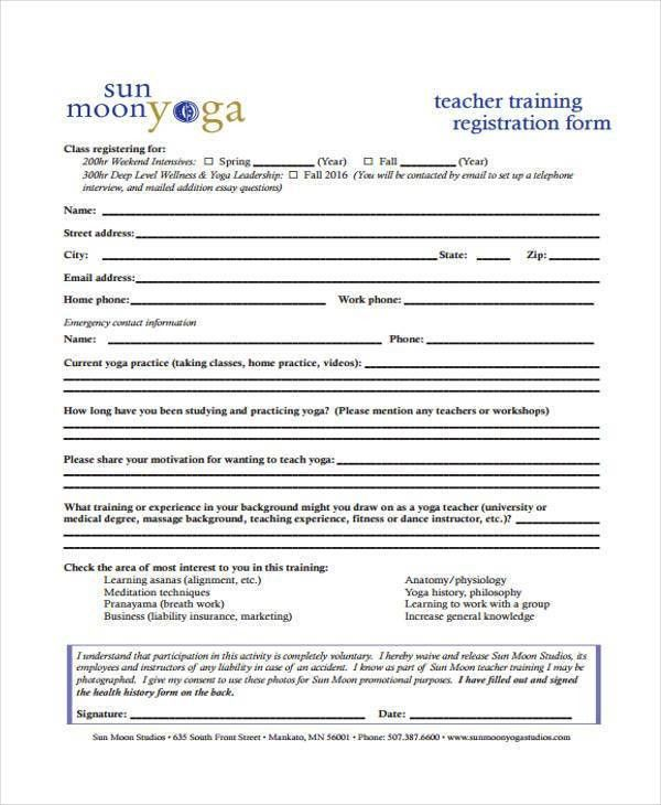 Sample Teacher Registration Forms - 8+ Free Documents in Word, PDF