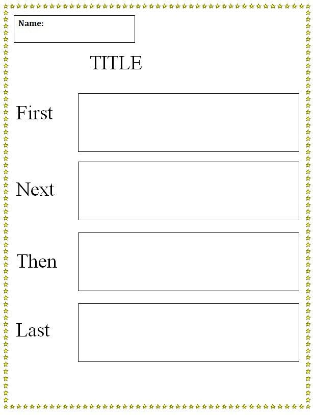 Graphic Organizer Template | First, Next, Then, Last, Graphic ...