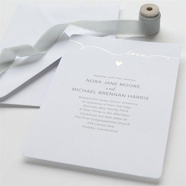 SCRIPT LOVE INVITATION 50CT | Gartner Studios