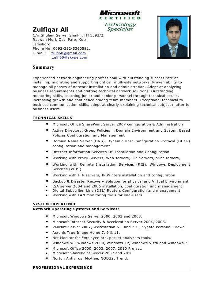 Download Network Design Engineer Sample Resume ...