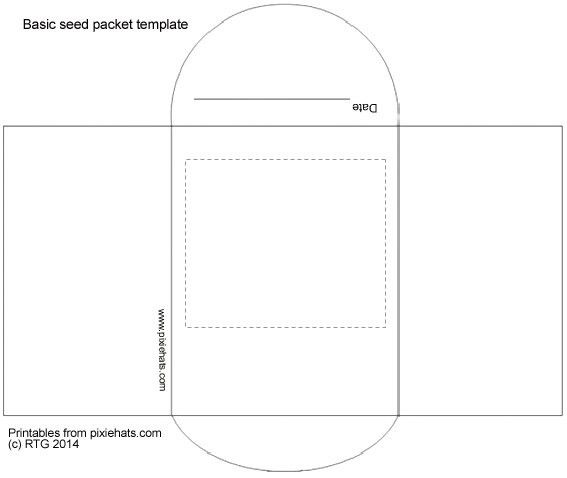 Handmade paper seed pots and printable seed packet templates