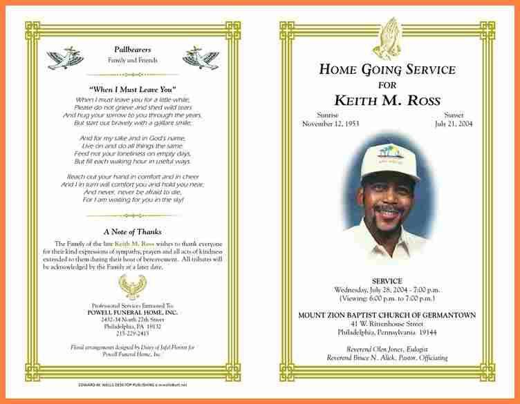 7+ examples of funeral programs   Invoice Example 2017