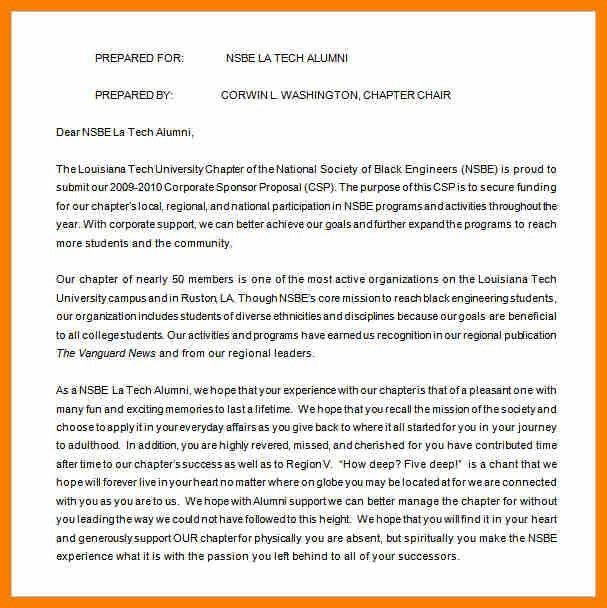 11+ sponsorship proposal sample | science-resume