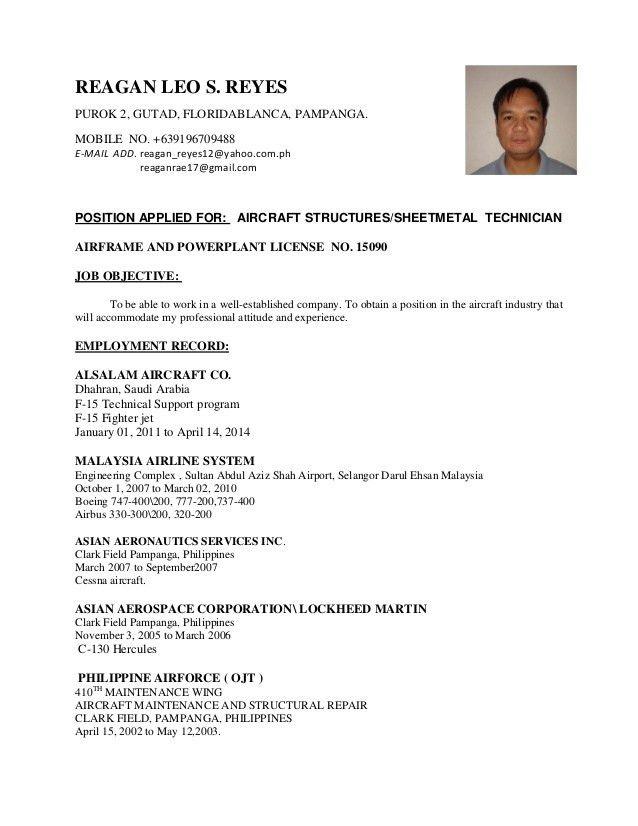 Download Aircraft Mechanic Resume | haadyaooverbayresort.com